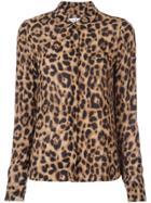 Reformation Violet Leopard-print Shirt - Brown