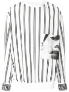Juun.j Striped Sweatshirt - White