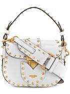 Moschino Studded Satchel Mini Bag - White