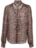 Paige Leopard Print Blouse - Brown