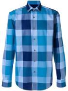 Boss Hugo Boss Macro Checked Shirt - Blue
