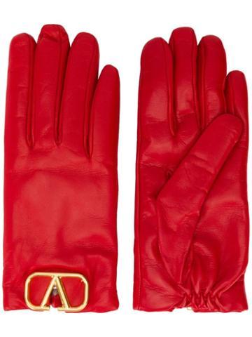 Valentino Valentino Garavani Vlogo Gloves - Red