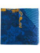 Etro Gorilla Printed Scarf - Blue