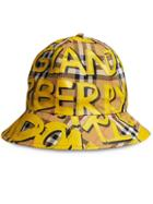 Burberry Graffiti Print Vintage Check Bucket Hat - Yellow & Orange