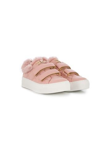 Elisabetta Franchi La Mia Bambina Teen Touch-strap Sneakers - Pink