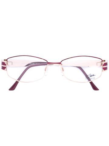 Cazal - Enamelled Round Frame Glasses - Women - Titanium/acetate - 52, Pink/purple, Titanium/acetate