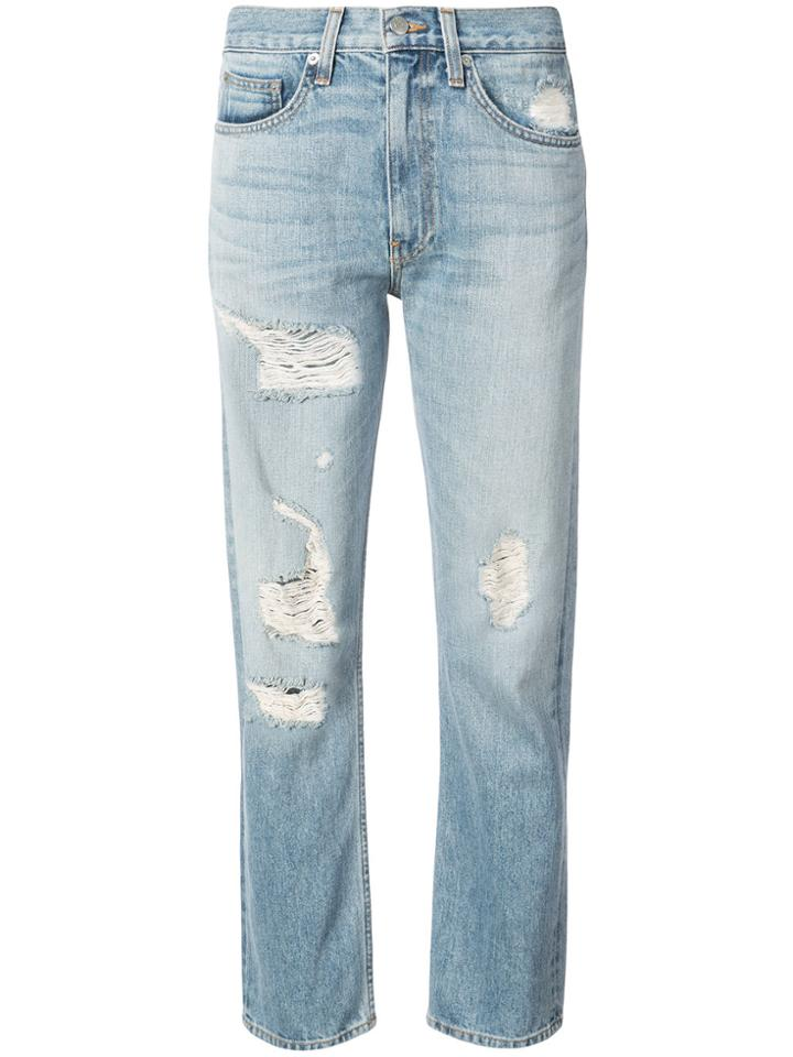 Brock Collection Distressed Straight-leg Jeans - Blue