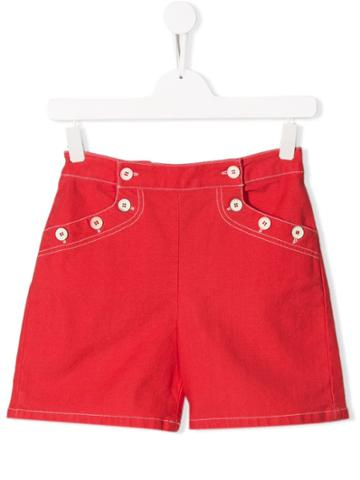 Bonpoint Casual Short Shorts - Red