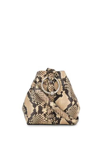 Rebecca Minkoff Snake Print Bucket Bag - Black