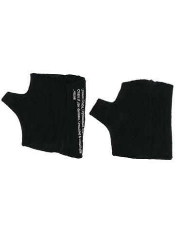 Julius Fingerless Gloves - Black