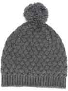 Dolce & Gabbana Knitted Beanie Hat - Grey