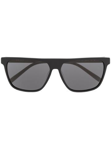 Dkny Matte Finish Square Frame Sunglasses - Black