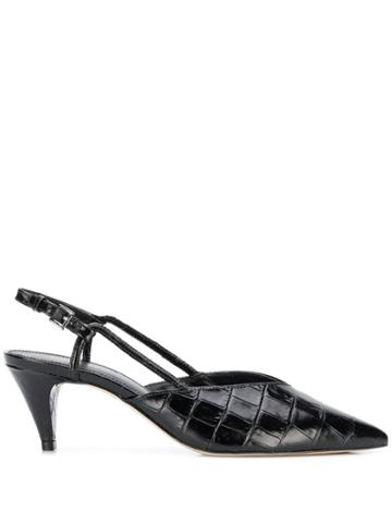 Michael Michael Kors Embossed Kitten-heel Pumps - Black