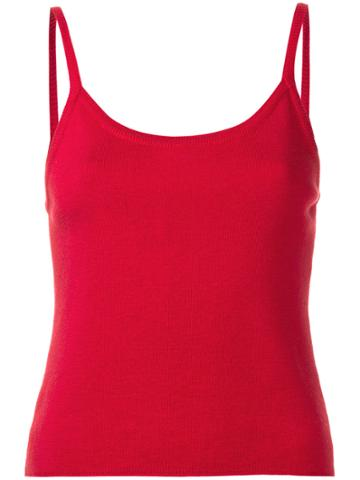 Giorgio Armani Vintage Scoop Neck Knitted Vest Top - Red