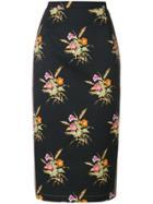 No21 Floral Pencil Skirt - Black