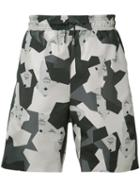 Christopher Raeburn - Geometric Print Shorts - Men - Cotton - L, Grey, Cotton