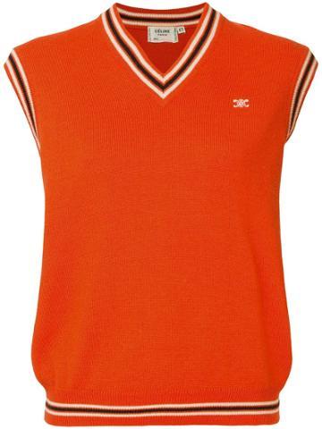 Céline Vintage Celine Sleeveless Tops - Orange