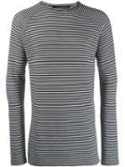 Haider Ackermann Striped Sweatshirt - White