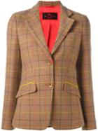 Etro Tattersall Plaid Blazer
