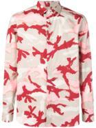 Valentino Camouflage Print Shirt - Grey