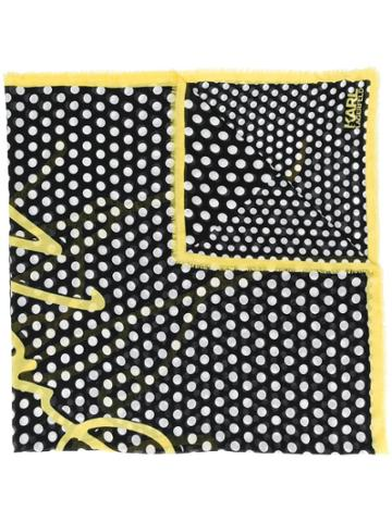 Karl Lagerfeld K/signature Dots Scarf - Black