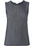 Akris Striped Fitted Tank Top