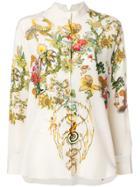 Etro Floral Print Shirt - Neutrals