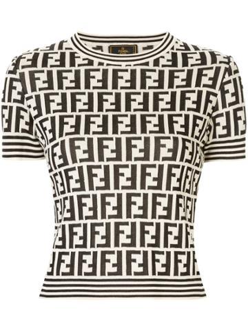 Fendi Pre-owned Zucca Pattern Top - Brown