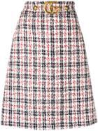 Gucci Check Skirt - Blue