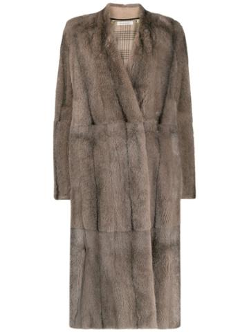 Boon The Shop Oversized Collarless Coat - Neutrals