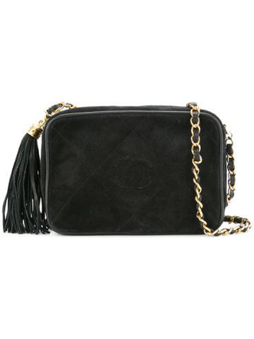 Chanel Vintage Cc Stitch Chain Bag - Black