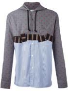 Comme Des Garçons Shirt Panelled Hooded Shirt