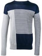 Striped Sweatshirt - Men - Cotton - Xl, Blue, Cotton, Diesel Black Gold