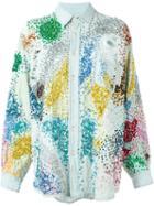 Ashish Confetti Embroidered Denim Shirt
