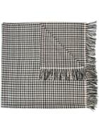 The Elder Statesman Cashmere Checked Scarf, Adult Unisex, Black, Cashmere
