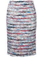 Coohem Bloom Tweed Skirt - White