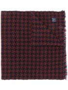 Salvatore Ferragamo Houndstooth Scarf - Red