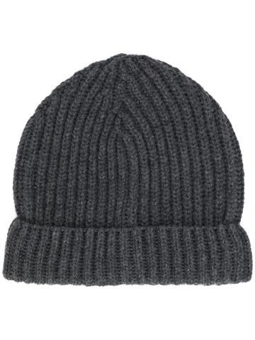 Zanone Ribbed Beanie Hat - Grey