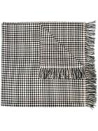 The Elder Statesman Cashmere Checked Scarf - Black