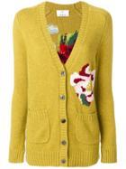 Allude Floral Cardigan - Yellow & Orange