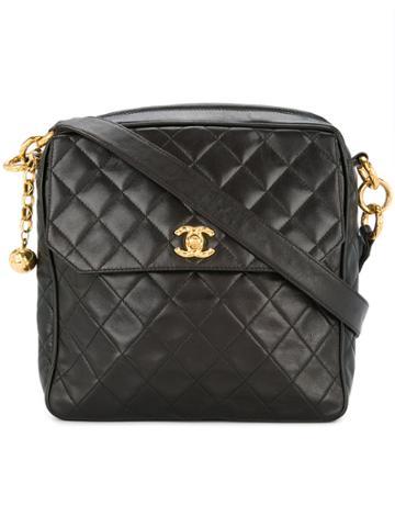 Chanel Vintage Square Shoulder Bag - Black