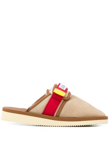 Suicoke Panelled Slippers - Neutrals