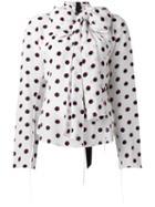 Marc Jacobs Dot Print Blouse, Women's, Size: 10, White, Silk