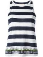 Tory Burch Embroidered Striped Top