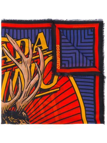 Dsquared2 - Elk Print Scarf - Men - Silk - One Size, Silk
