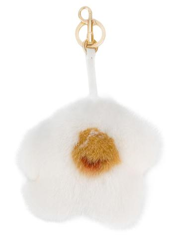 Anya Hindmarch - Egg Bag Charm - Women - Mink Fur - One Size, White, Mink Fur