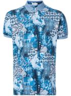 Etro Indian Printed Polo Shirt - Blue