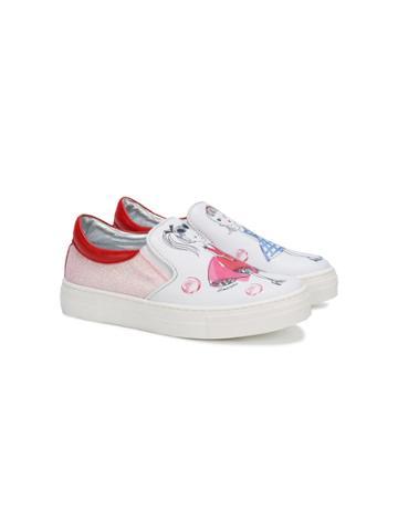 Simonetta Girl Print Sneakers - Multicolour
