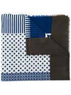 Altea Mixed Print Scarf - Blue