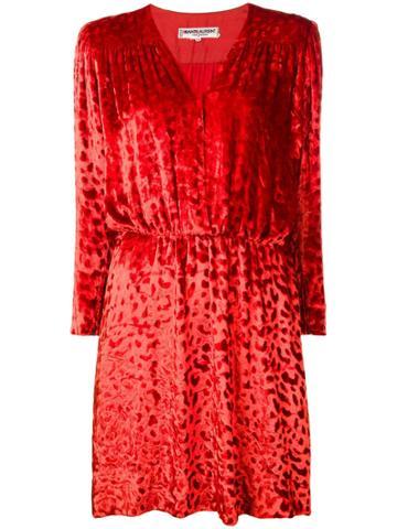 Yves Saint Laurent Vintage 1980 Velvet Dress - Orange